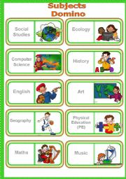English names of school subjects
