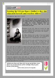 English Worksheets: SLUM GIRL COURAGEOUS