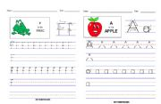English Worksheets: letters F ,A , I, E
