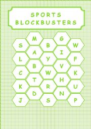 English Worksheet: SPORTS - BLOCKBUSTERS