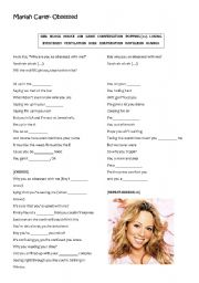 English Worksheet: Mariah Carey- Obsessed