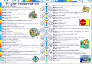 English Worksheet: Flight reservation ***  Role-play *** Part 1-2