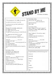 English Worksheets: Stand By Me - by Playing For Change