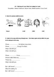 English Worksheet: U2 - I Still Haven´t Found What I´m Looking For Song