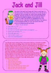 English Worksheets: Jack and Jill