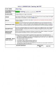 English Worksheet: Teaching weather report