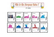 English Worksheet: This is the European Union - 27 Capital Cities - cards (part 2 )