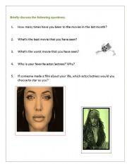 English Worksheets: Movie Talk