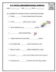 English Worksheets: grammer unscrambled words