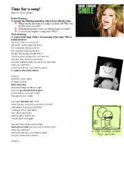 English Worksheet: SMILE by Avril Lavigne
