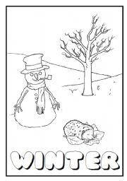 English Worksheet: SEASONS FLASHCARDS + POSTER + SEASONS WHEEL (10 pages)