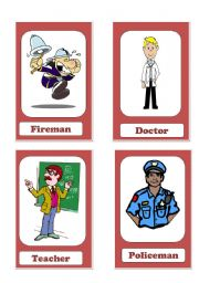 English Worksheets: Go fish game/Jobs and professions/Part1