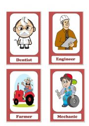 English teaching worksheets professions for Fish and game jobs