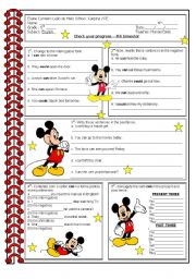 English Worksheet: modal - can and could