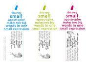 English Worksheet: �Apostrophe� bookmarks 1