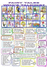 English Worksheet: FAIRY TALES.WHO�S TALKING?/8