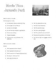 english worksheets jurassic park worksheet 2. Black Bedroom Furniture Sets. Home Design Ideas