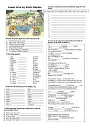 English Worksheet: SONGSHEET LEMON TREE