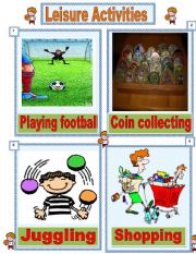 English Worksheet: Leisure activities number 1