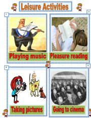 English Worksheet: Leisure activities number 2