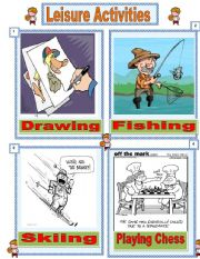 English Worksheet: Leisure activities number 3