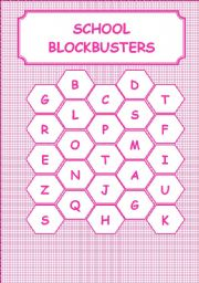 English Worksheet: SCHOOL-BLOCKBUSTERS