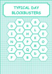 English Worksheet: TYPICAL DAY - BLOCKBUSTERS