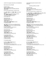 English Worksheet: Spending my time by Roxette