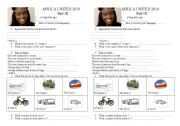 English Worksheets: Africa United 2010 film part 3