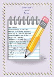 English Worksheet: Punctuation- commas & periods