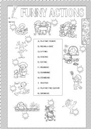 English Worksheets: FUNNY ACTIONS