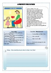 English Worksheets: Father´sDay