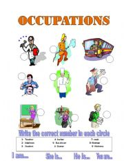 English Worksheets: OCCUPATION MATCH