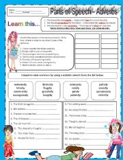 English Worksheets: ADVERBS- EDITABLE w/ ANSWER KEY