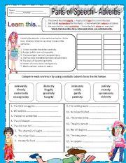 English Worksheets: ADVERBS- EDITABLE w/ ANSWER KEY