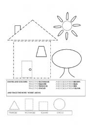 shapes worksheet esl worksheet by pangrum. Black Bedroom Furniture Sets. Home Design Ideas