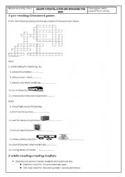 English Worksheets: lesson 6: travel is fun and broadens the mind