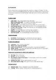esl worksheets for adults euphemisms. Black Bedroom Furniture Sets. Home Design Ideas