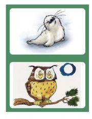 English Worksheets: Flashcards - Animals 01/04