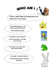 english teaching worksheets who am i. Black Bedroom Furniture Sets. Home Design Ideas