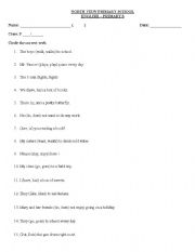 English Worksheet: subject verb agreement worksheet