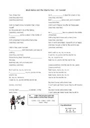 English Worksheets: Black Horse and the Cherry Tree