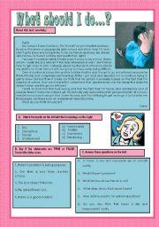 English Worksheet: What should I do - 1