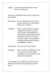English Worksheets: Pied Piper interview
