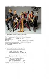 English Worksheet: Aerosmith I don�t wanna miss a thing