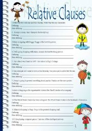 English Worksheets: Defining and non-defining clauses