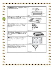 English Worksheets: COMMON LABORATORY APPARATUS part 2