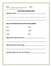 English Worksheets: ´Room on a Broom´ comprehendion