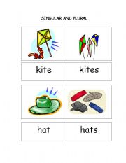 Singular and Plural Cards  (part 1 - cards 1 to 12)