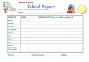 homeschool id template - english worksheets report card template
